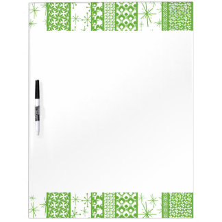 "Pantone's ""Greenery"" with Retro Pattern Stripes Dry Erase Board"