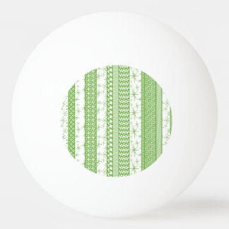 """Pantone's """"Greenery"""" with Retro Pattern Stripes Ping Pong Ball"""