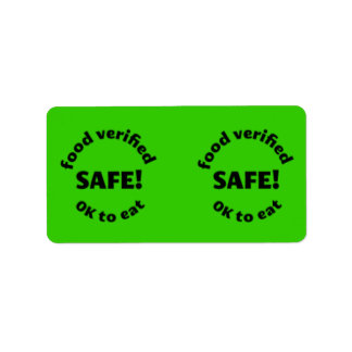 Pantry Labels - Safe to eat