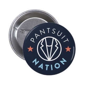 Pantsuit Nation Button, Navy 2 Inch Round Button