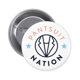 Pantsuit Nation Button, White 2 Inch Round Button
