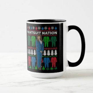 Pantsuit Nation Dark Background Christmas Mug