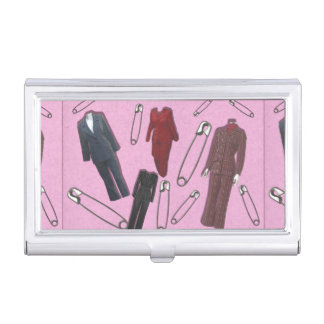 Pantsuits and Safety Pins Business Card Holder