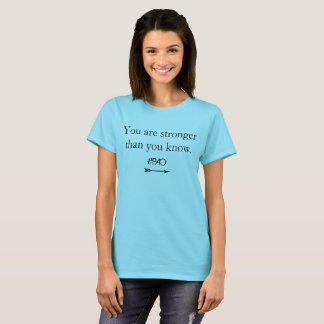 "PAO Recovery Tee ""You are stronger than you know"""