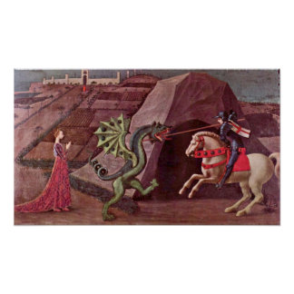 Paolo Uccello - St George and the Dragon Poster