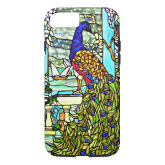 Paon vintage en verre souillé de Nouveau Tiffany Coque iPhone 7