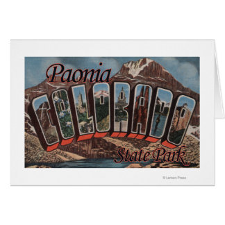 Paonia State Park, Colorado - Large Letter Scene Card