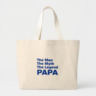 papa-akz-blue.png jumbo tote bag