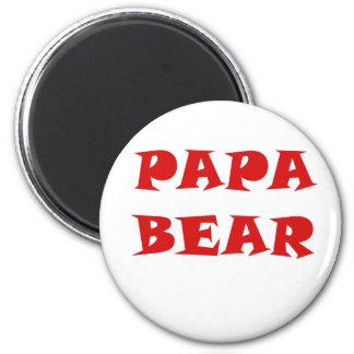 Papa Bear 2 Inch Round Magnet