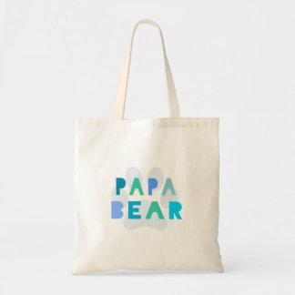 Papa bear canvas bag