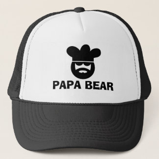 Papa bear BBQ hat for men