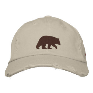 Papa Bear Brown Bear Embroidered Hat