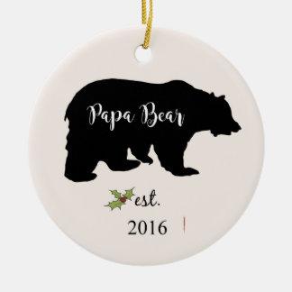 papa bear christmas ornament, dad ornament