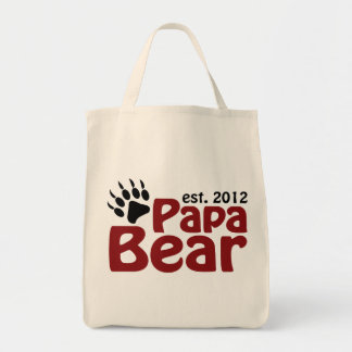 papa bear claw 2012 grocery tote bag