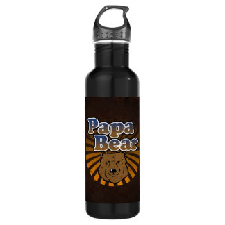 Papa Bear, Cool Fathers Day Vintage Look 710 Ml Water Bottle