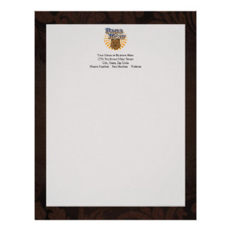 Papa Bear, Cool Fathers Day Vintage Look Letterhead