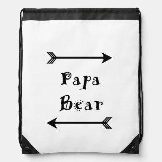 Papa Bear Drawstring Bag