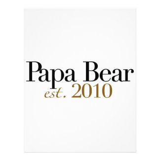 Papa Bear Est 2010 Flyers