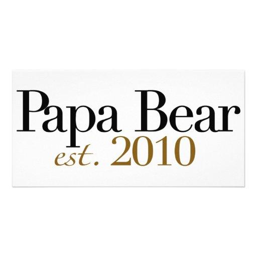 Papa Bear Est 2010 Photo Cards
