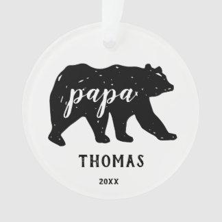 Papa Bear Family Modern Christmas Ornaments