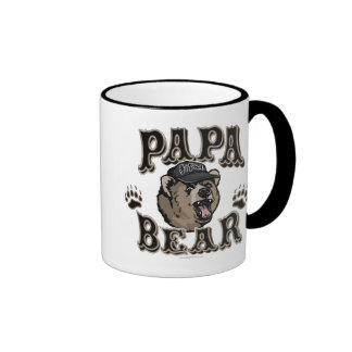 Papa Bear Father's Day Gear Coffee Mugs