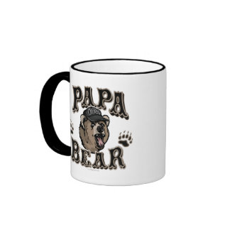 Papa Bear Father's Day Gear Ringer Coffee Mug
