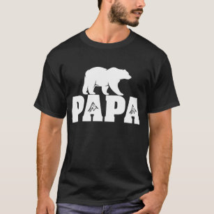 870217b5 Papa Bear Funny Gift Father's Day Idea T-Shirt