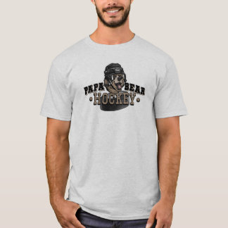 Papa Bear Hockey by Mudge Studios T-Shirt