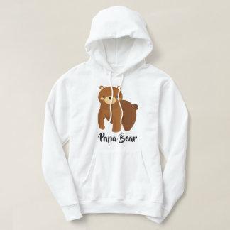 Papa Bear - Large Family Dad Gift Hoodie