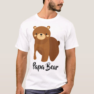 Papa Bear - Large Family Dad Gift T-Shirt