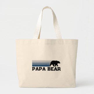 Papa Bear Large Tote Bag
