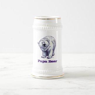 Papa Bear Polar Bear Stein
