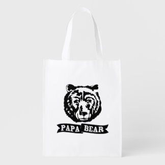 Papa Bear Reusable Grocery Bags