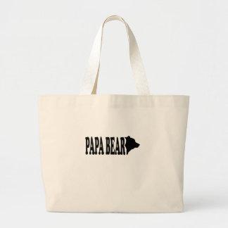 Papa bear T-Shirts.png Canvas Bags