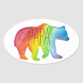 Papa Bear Watercolor Family Pride Sticker