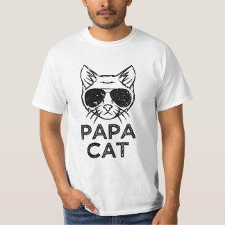 Papa Cat funny saying men's cat t-shirt