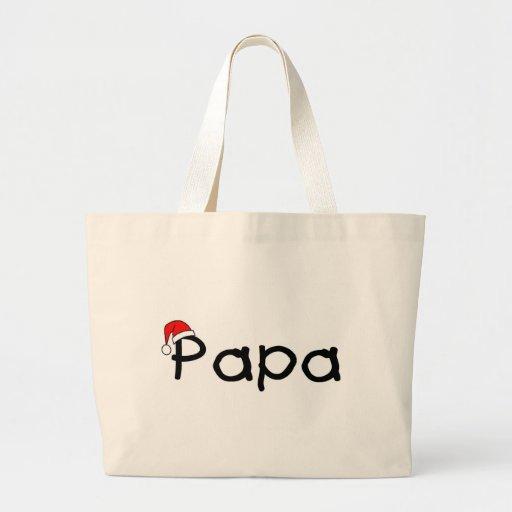 Papa Christmas Santa Hat Bags