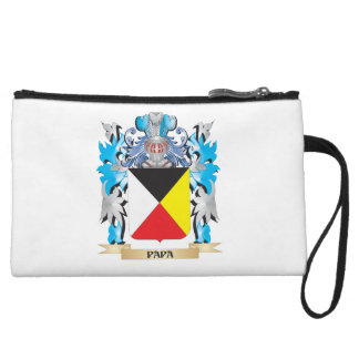 Papa Coat of Arms - Family Crest Wristlet Purses