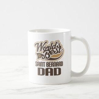 Papa de St Bernard (mondes meilleurs) Mug Blanc