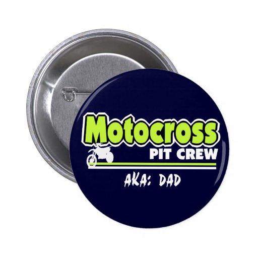 Papa d'équipe du stand de ravitaillement de motocr badges avec agrafe