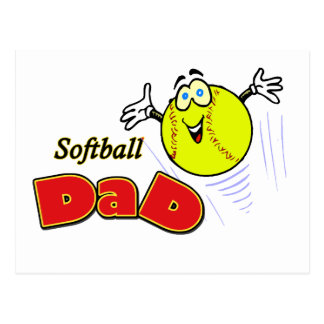 Papa du base-ball carte postale