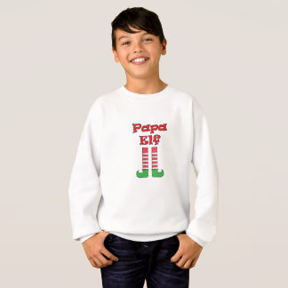 Papa Elf Matching Couple Christmas Sweatshirt