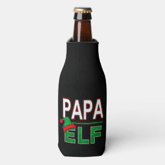 Papa Elf | Team Elf Christmas Holiday Family | Bottle Cooler