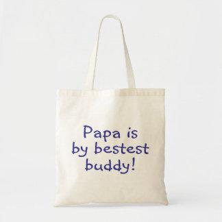 Papa Is My Bestest Buddy Canvas Bag
