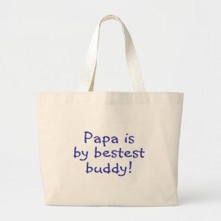 Papa Is My Bestest Buddy Jumbo Tote Bag