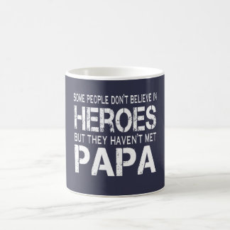 PAPA IS MY HERO COFFEE MUG
