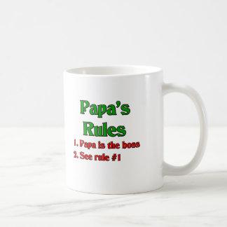 Papa Is The Boss Coffee Mug