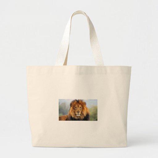 Papa Lion Tote Bags