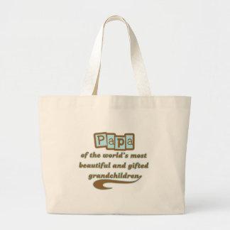 Papa of Gifted Grandchildren Jumbo Tote Bag