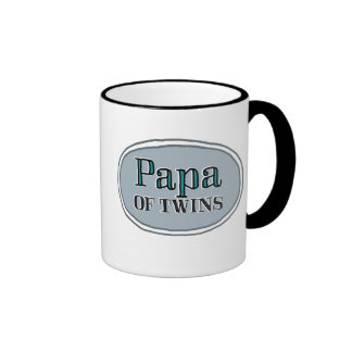 Papa of Twins Ringer Coffee Mug